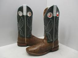 Anderson Bean Horse Power Brown Green Leather Cowboy Boots S