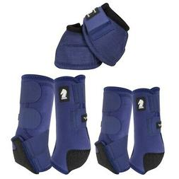 C-NV-M Medium Classic Equine Horse Front Hind Bell Boots Pai