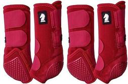 Classic Equine Crimson Red Legacy Flexion SYSTEM Front Rear