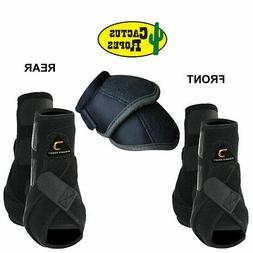 Cactus Dynamic Edge Horse Front Leg Sport Bell Boots 6 Pack