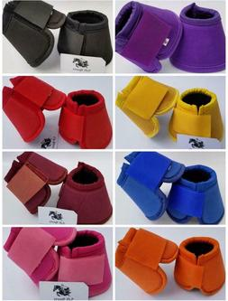 Horse Bell Boots Over Reach No Turn Bell Wrap All sizes Tack
