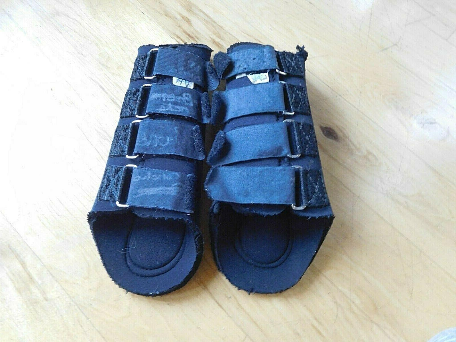 horse galloping neoprene splint boots large hind
