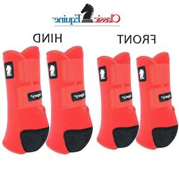 Classic Equine LEGACY2 SYSTEM Red Front Hind Rear Value 4 Pa