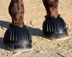 Large Professional Choice Pull On Rubber Horse Bell Boot Bla