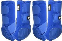 Classic Equine Royal Blue Legacy Flexion SYSTEM Front Rear 4