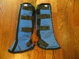 Set of 2 blue Toklat shipping boots, 17.5 inches total
